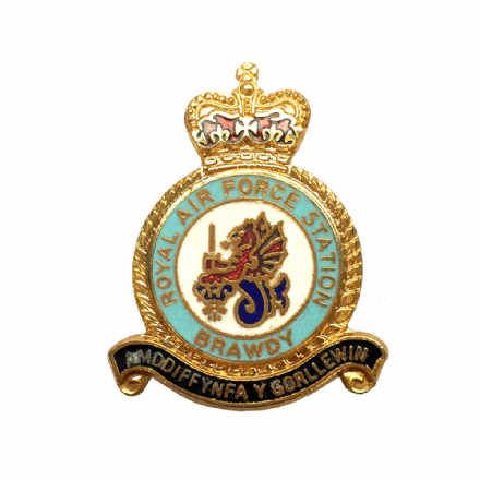 Royal Air Force RAF Station Brawdy Lapel Badge